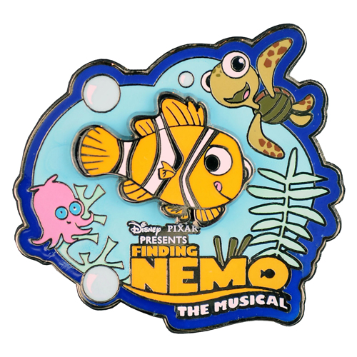 disney attraction pin finding nemo the musical logo. Black Bedroom Furniture Sets. Home Design Ideas