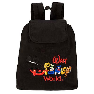 Your WDW Store - Disney Backpack Bag - Walt Disney World - Black