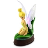 Disney Medium Figure Statue - Tinker Bell Sitting on Leaf