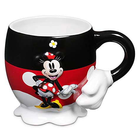 Your WDW Store Disney Coffee Cup Mug Minnie Mouse Raised