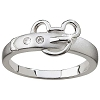 Disney Ring - Sterling Silver  Mickey Mouse Belt Buckle