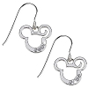 Disney Earrings - French Wire Curl Mickey Mouse
