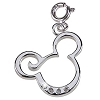 Disney Charm - Sterling Silver Curl Mickey Mouse