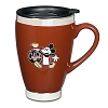 Disney Coffee Cup Mug - Mickey's Really Swell Coffee - Brown