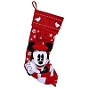 Disney Christmas Holiday Stocking - Nostalgic Red and White - Minnie