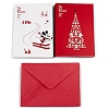 Disney Christmas Cards - Nostalgic Red and White Mickey