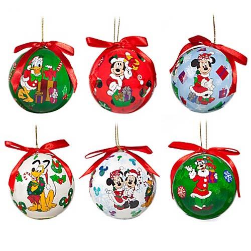 Your WDW Store - Disney Christmas Ornament Set - Decoupage Santa ...
