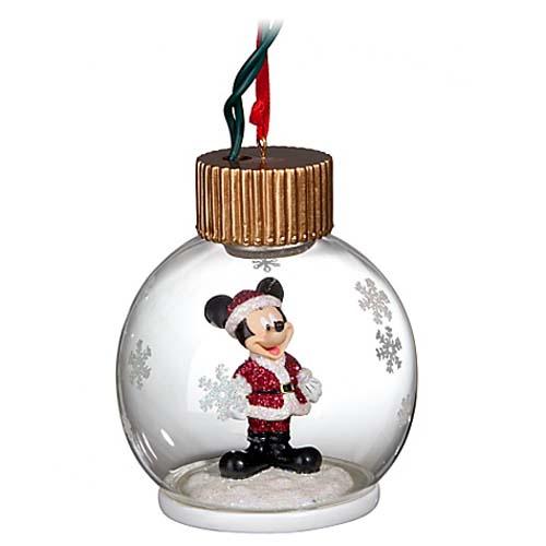 Your WDW Store - Disney Christmas Ornament - Light Up Santa Mickey ...