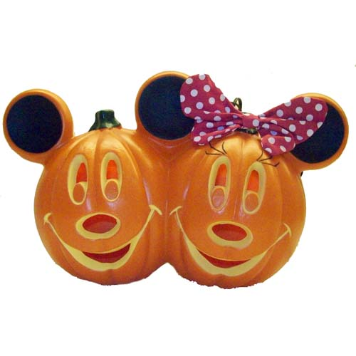 disney halloween decoration mickey and minnie light up pumpkin - Halloween Decorations Pumpkin