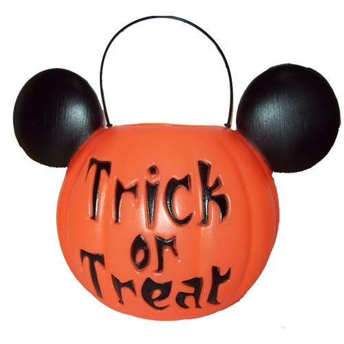 Your wdw store disney halloween candy pail mickey for How to paint a mickey mouse pumpkin