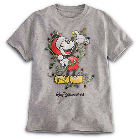 Your WDW Store - Disney CHILD Shirt - Santa Mickey Christmas Lights