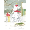 Disney Christmas Cards - David Doss Original Art - Minnie Magic