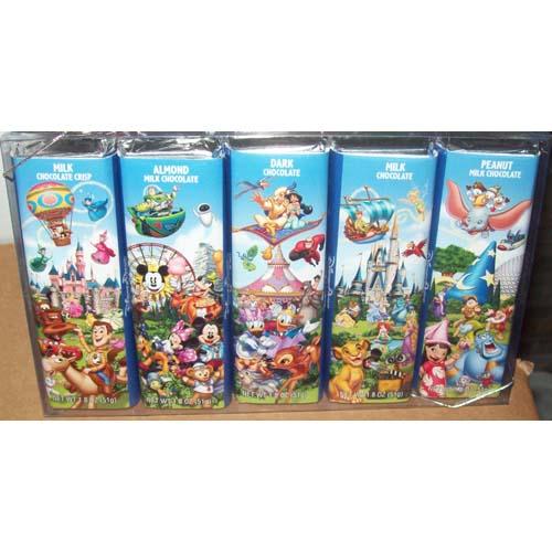 Disney Goofy Candy Co Theme Parks 5 Chocolate Bar Selection