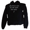 Disney Adult Hoodie - Star Wars - Judge Me By My Size Yoda