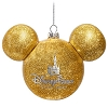 Disney Christmas Ornament - Mickey Mouse Ears Ball - Gold Glitter