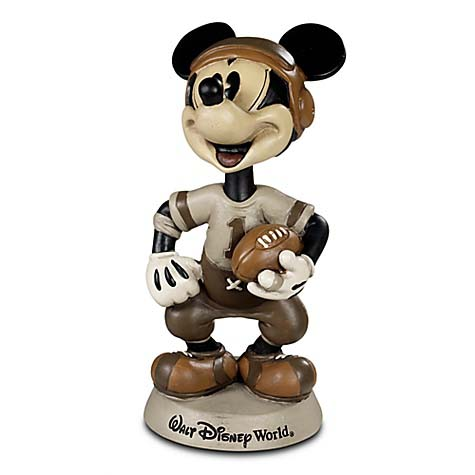 disney bobblehead figure football mickey mouse disney world