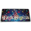 Disney License Plate - Magic Kingdom Character Icons Logo