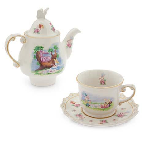disney alice in wonderland teapot set