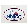 Disney Car Decal - Norway Pavilion ''I Helmet Norge''