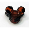 Disney Mini Hair Clip - Mickey Mouse Ears - Brown with Black Spots