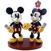 Disney Medium Figure Statue - Pie-Eyed Minnie and Mickey Mouse