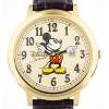 Disney Wrist Watch - Jumbo Classic Mickey Mouse Watch - Gold Face