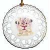 Disney Disc Ornament - Happy Holidays - Victorian Minnie and Mickey