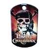 Disney Engraved ID Tag - Pirates of the Caribbean Skull Logo