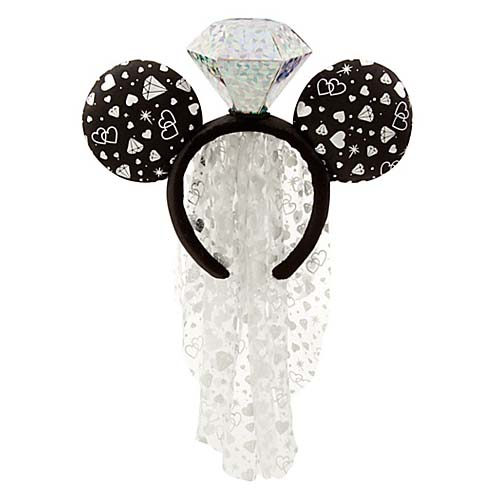 disney headband hat minnie mouse ears wedding ring with veil - Mickey Mouse Wedding Ring