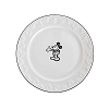 Disney Dessert Plate - Gourmet Mickey Mouse Icon - White with Black