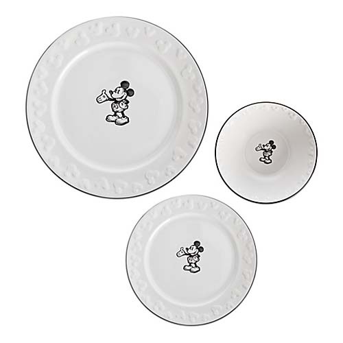 Disney Dinner Plate Gourmet Mickey Mouse Icon White