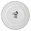 Disney Dinner Plate - Gourmet Mickey Mouse Icon - White with Black