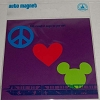 Disney Auto Magnet - Peace Love and Mickey Mouse
