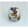 Disney Bead for Bracelet - Mickey Mouse Standing - White