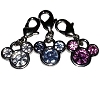Disney Dangle Charm - Mickey Ears Icon Crystal Ears in Silver