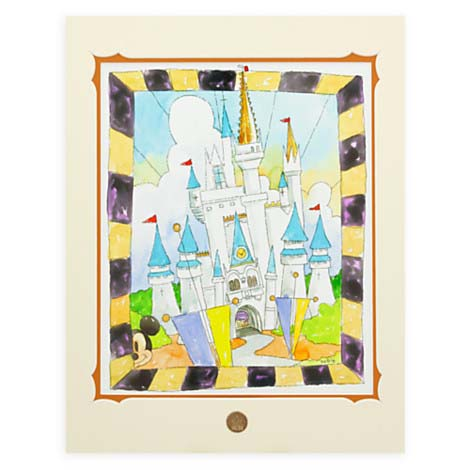 Your Wdw Store Disney Randy Noble Print Our World Castle