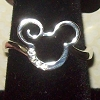 Disney Ring - Mickey Mouse Ears Curl Charm with Gems