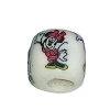 Disney Bead for Bracelet - Minnie Mouse Waving - White Bead