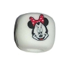 Disney Bead for Bracelet - Minnie Mouse Face - White Bead