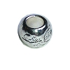 Disney Bead for Bracelet - Silver Metal Little Princess Bead