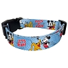 Disney Pet Collar - Blue Mickey Mouse and Pluto PALS 4 EVER!