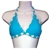 Disney Girls Bathing Suit - Turquoise Polka Dot Bikini Top