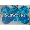 SeaWorld Engraved ID Tag - SeaWorld Logo - Blue Bone
