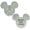 Disney World Pocket Token Coin - Piece of Magic - Peace Love Mickey