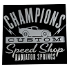 Disney Window Decal - Champions Custom Speed Shop - Radiator Springs