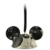 Disney Ears Ornament - Black and White Jeweled - Limited Edition