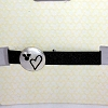 Disney Bracelet - Ribbon - Black Heart and Gem Mickey Ears