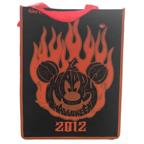 your wdw store - disney trick or treat bag - 2012 halloween flamin u0026 39  pumpkin