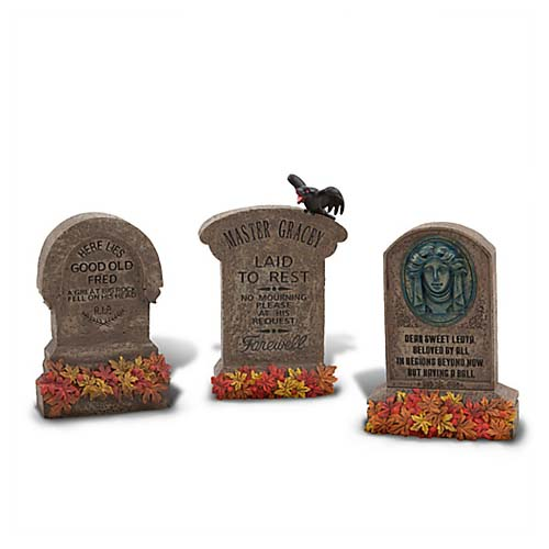 disney halloween decoration haunted mansion tombstones 3 pc - Tombstone Halloween Decorations