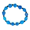 Disney EPCOT Recycled Paper Bracelet - Blue - Small Fat Beads